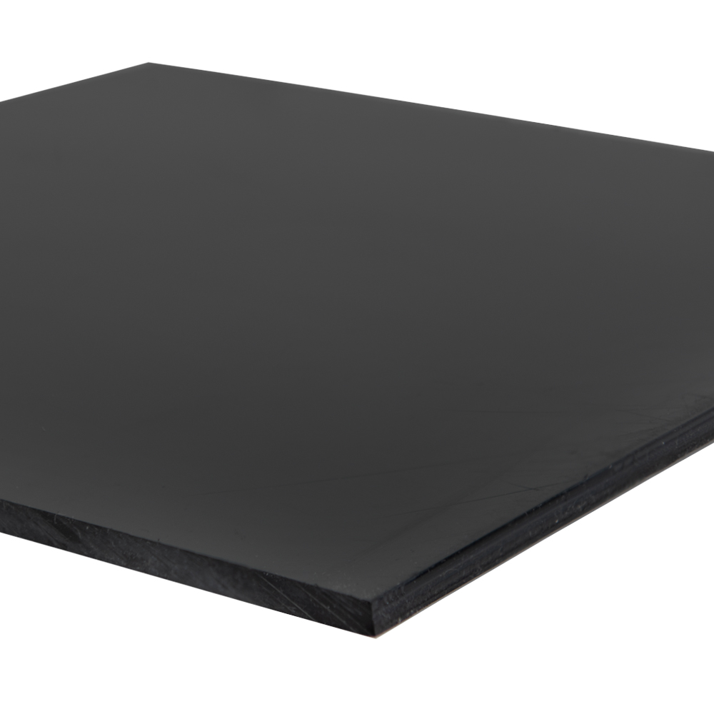 "3/4"" x 12"" x 48"" Recycled HDPE Black Sheet"