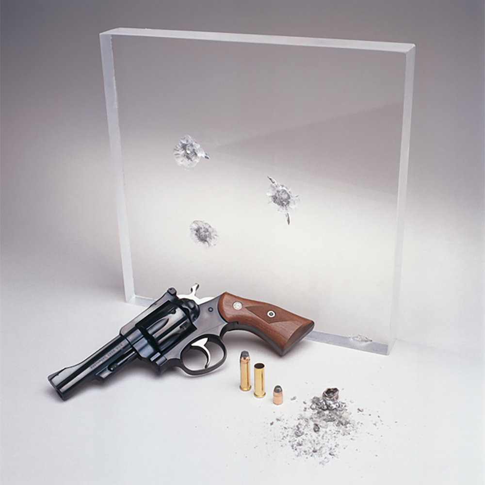 "1.378"" x 60"" x 96"" Coated Level 2 Bullet Resistant Acrylic Sheet"