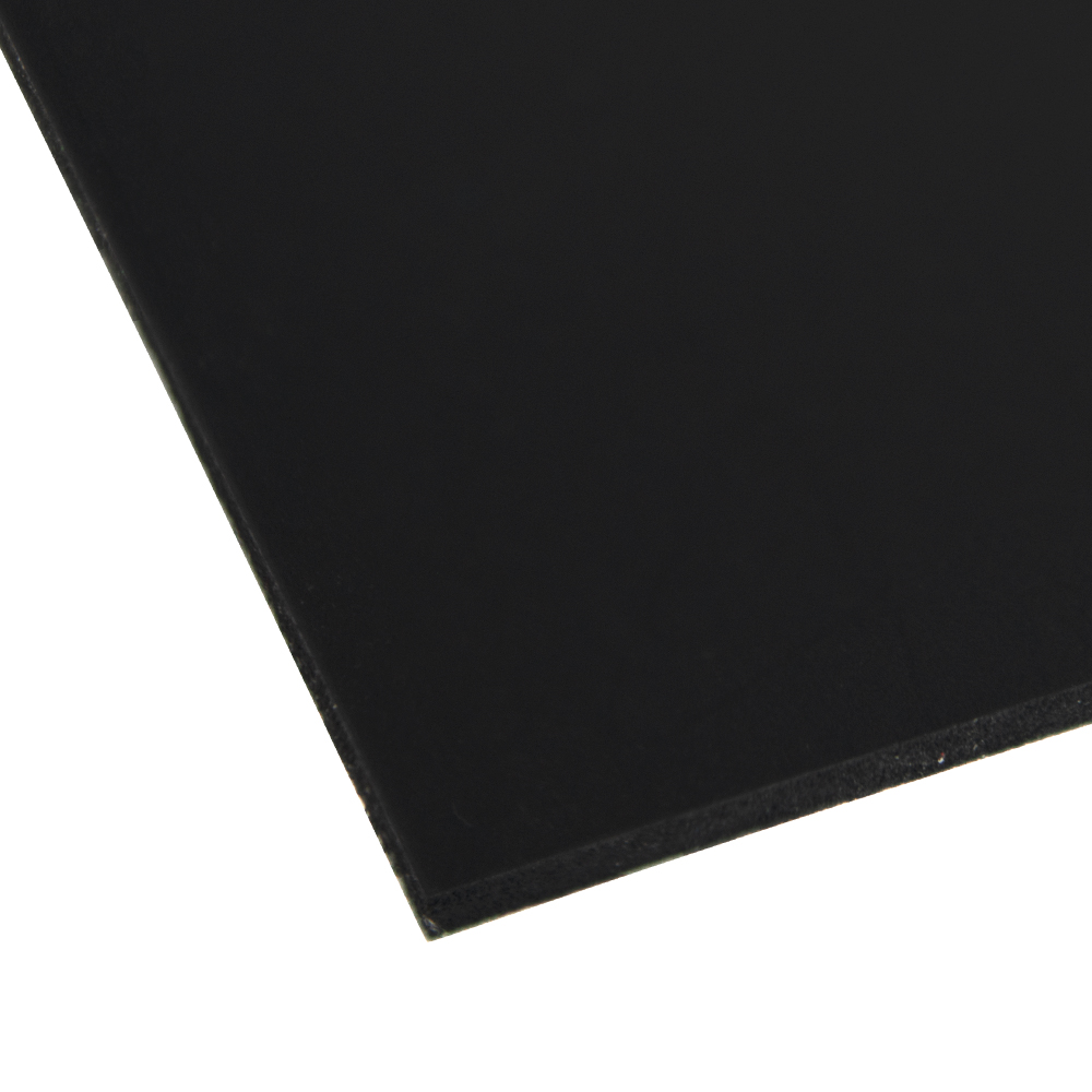 """0.240"""" x 12"""" x 48"""" Black Expanded PVC Sheet"""