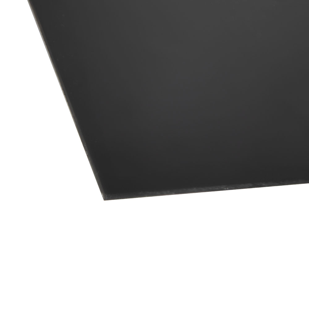 ".125"" x 12"" x 12"" KYDEX® T Black Thermoplastic Sheet"