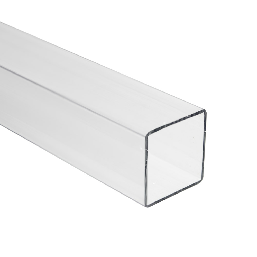 "3/4"" Clear SQ Polycarbonate Tube"
