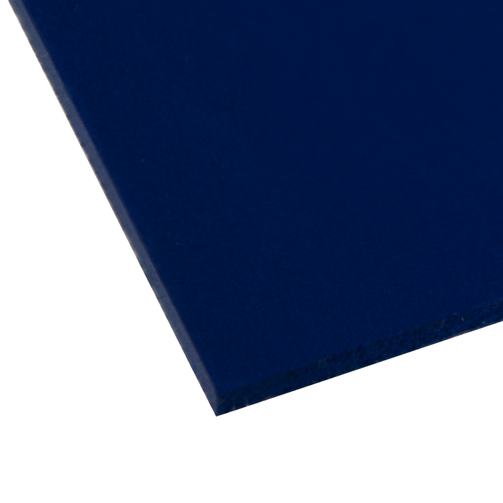 "0.120"" x 24"" x 48"" Dark Blue Expanded PVC Sheet"