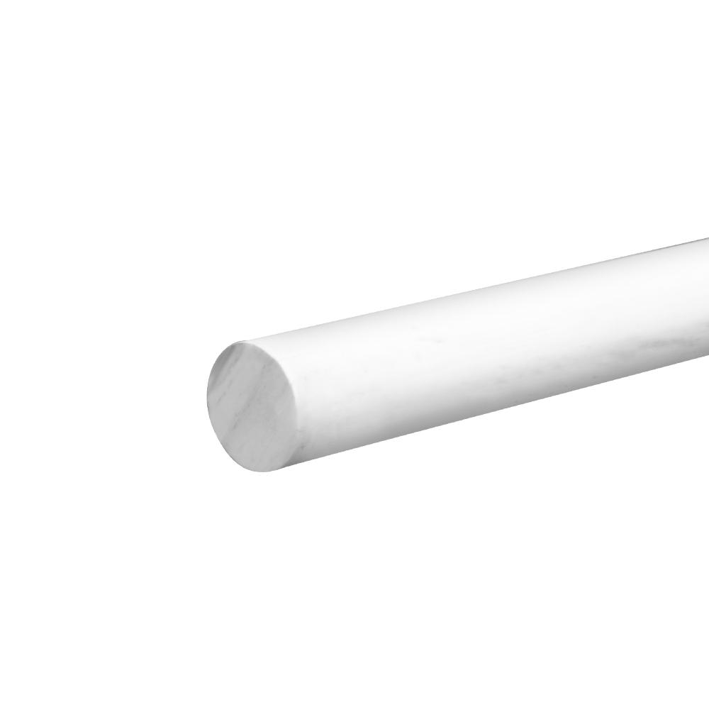 """1/2"""" Dia. White PVC Rod"""