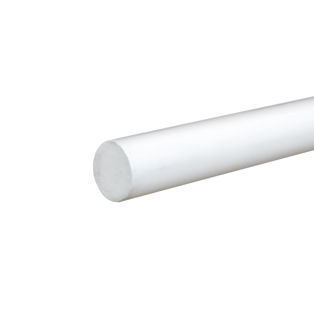 """3/4"""" White PVC Rod"""