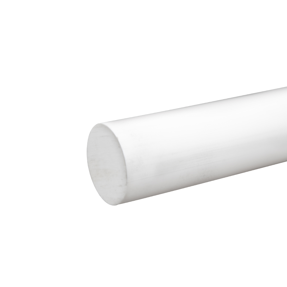 """1-1/4"""" White PVC Rod"""