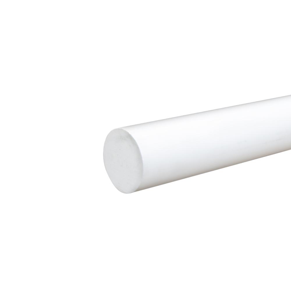 """1-1/2"""" White PVC Rod"""