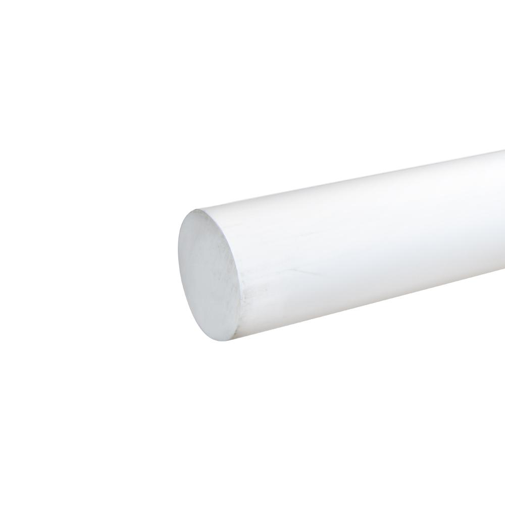 """1-5/8"""" White PVC Rod"""
