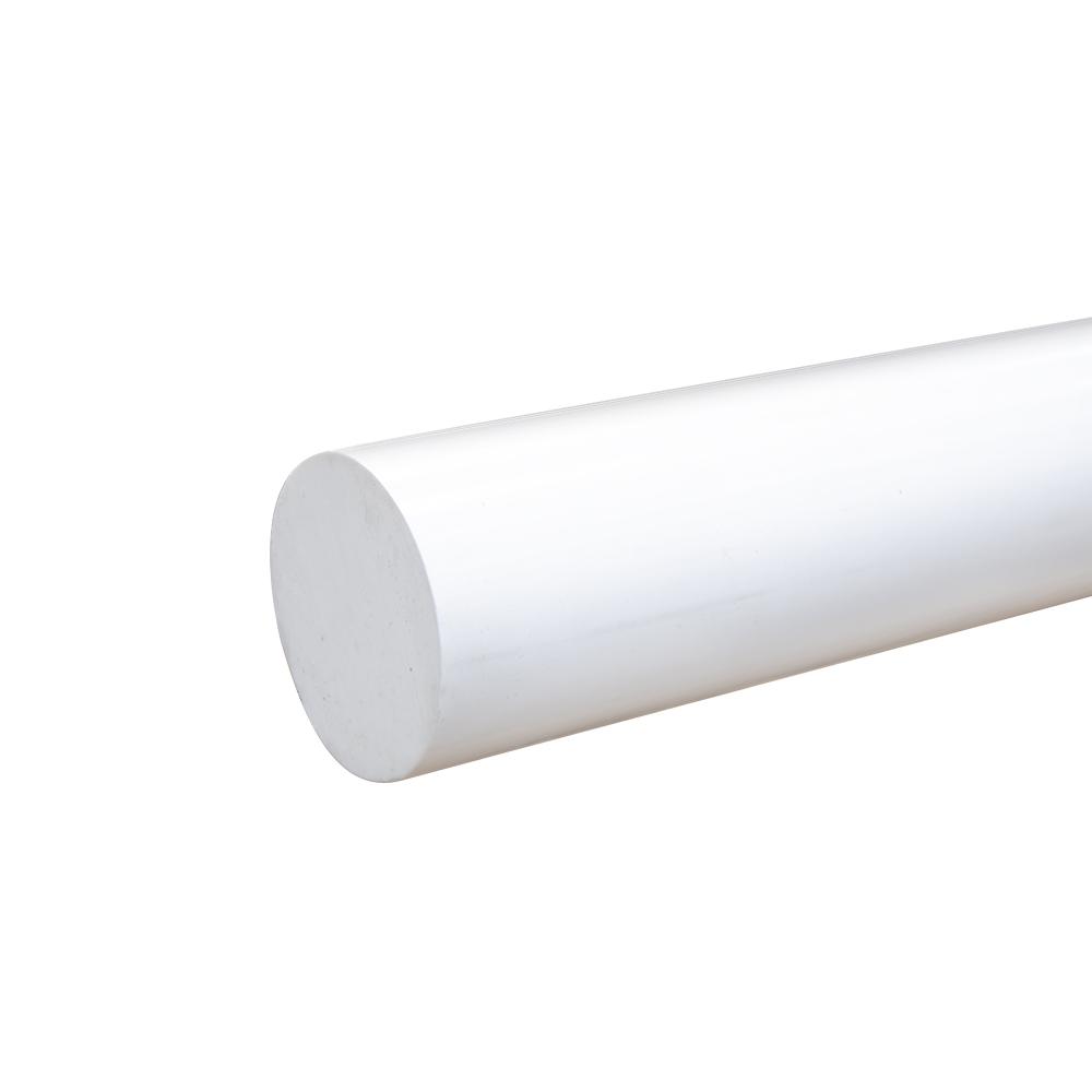 """2"""" White PVC Rod"""