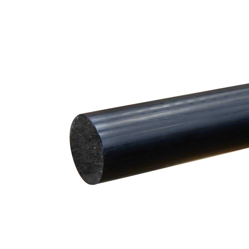 """1-5/8"""" Black PVC Rod"""