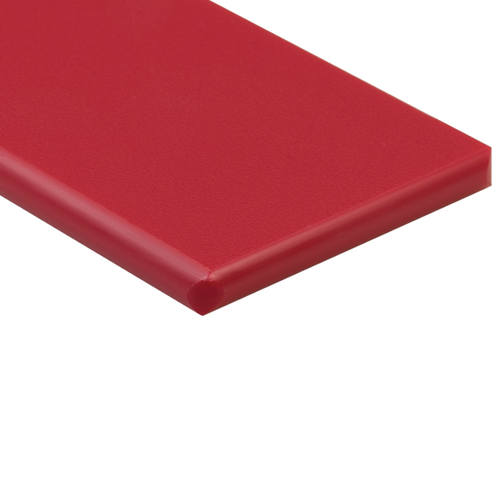 "1/2"" x 48"" x 48"" Red ColorBoard® HDPE Sheet"