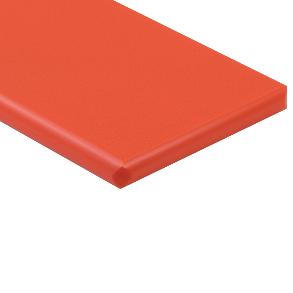 "1/2"" x 24"" x 48"" Orange ColorBoard® HDPE Sheet"