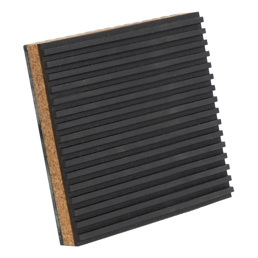"7/8"" x 4"" x 4"" Rubber & Cork Anti-Vibration Pad"