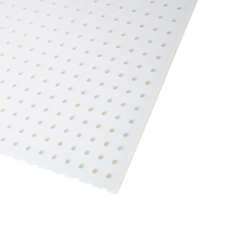 "1/8"" x 24"" x 48"" PP Perforated Sheet with Straight Rows - 1/4"" Holes on 1/2"" Centers"