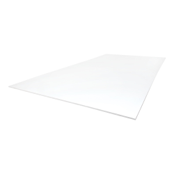 "1/4"" x 12"" x 12"" White Polypropylene Sheet"