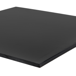 "1/2"" x 48"" x 48"" Recycled HDPE Black Sheet"