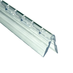 "1-3/4"" x 6"" Clear Acrylic DR® Piano Hinge"