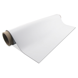 "24.375"" x 10' Gloss White Magnetic Sheeting Roll"