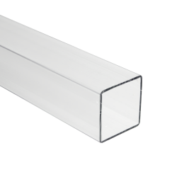 Clear Square Polycarbonate Tube