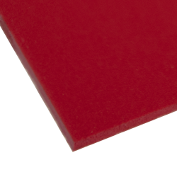 "0.120"" x 12"" x 12"" Red Expanded PVC Sheet"