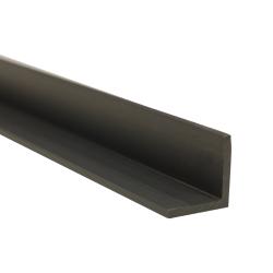 "1"" x 1"" x 1/8"" Gray PVC-1 Extruded Angle"
