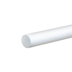 """3/8"""" White PVC Rod"""