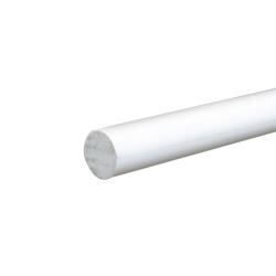 """5/8"""" White PVC Rod"""