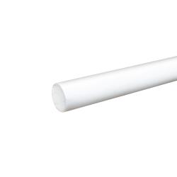 """7/8"""" White PVC Rod"""