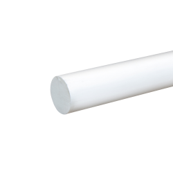 """1"""" White PVC Rod"""