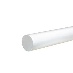 """1-1/8"""" White PVC Rod"""