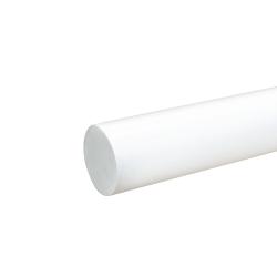 """1-3/8"""" White PVC Rod"""