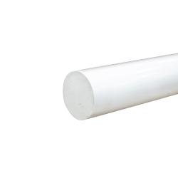 """1-3/4"""" White PVC Rod"""