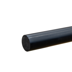 """1"""" Black PVC Rod"""