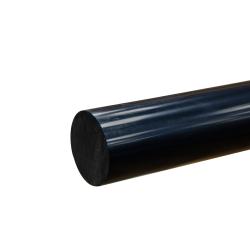 """1-1/4"""" Black PVC Rod"""