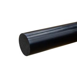 """2"""" Black PVC Rod"""