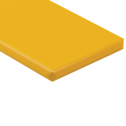 "1/4"" x 24"" x 24"" Yellow ColorBoard® HDPE Sheet"
