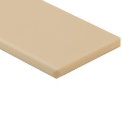 "1/4"" x 24"" x 24"" Tan ColorBoard® HDPE Sheet"
