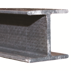 "3"" x 3"" x 1/4"" Fibergrate Dynaform® Wide Flange Beam; Gray"