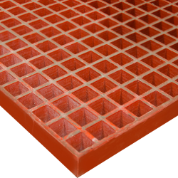"36"" x 120"" Vi-Corr® Orange; 1-1/2"" x 1-1/2"" Mesh x 1-1/2"" Thick"