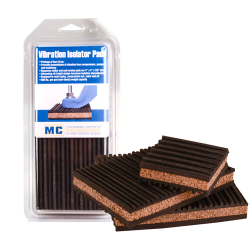 "7/8"" x 4"" x 4"" Rubber & Cork Anti-Vibration Pads"