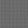"1/16"" x 24"" x 48"" Gray PVC Perforated Sheet with Staggered Rows - 1/8"" Holes on 3/16"" Centers"