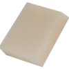 ".125"" x 38"" x 52"" White 100 PPI Reticulated Polyurethane Foam Sheet"