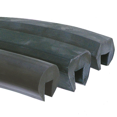 "3/8"" Tapered Hex-Flat EPDM Channel"