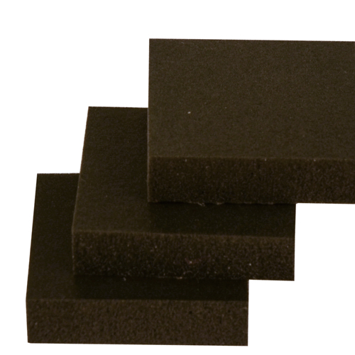".125"" x 24"" x 24"" Black Very Soft Poron® Urethane Foam Sheet"