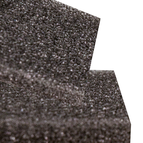 ".375"" x 54"" x 36"" Charcoal 4 Lbs. Density Polyester Foam Sheet"