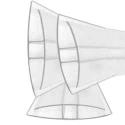 6mm Clear Polycarbonate H-Connector