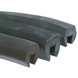 "1/2"" Hex-Flat Top EPDM Channel"
