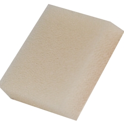 ".25"" x 38"" x 52"" White 100 PPI Reticulated Polyurethane Foam Sheet"