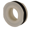 "1-1/2"" Loose Polypropylene Tank Fitting with Santoprene® Gaskets - 2-1/4"" Hole Size"