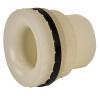 "1"" Loose Heavy Duty Polypropylene Fitting with Santoprene® Gasket SKT x THD - 1-7/8"" Hole Size"