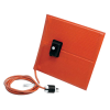 "6"" L x 12"" W Silicone Rubber Heating Blanket with Adjustable Thermostat & PSA - 90Watts/120VAC"